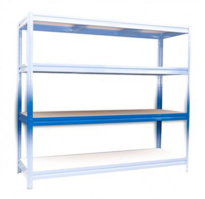 Kompletna Półka Do Regału Regał Metalowy 60 X 160 Cm Niebieski Nośność Półki 200 Kg