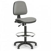 Krzesło robocze Milano Biedrax Z9785S z pierścieniem nośnym i stopkami poślizgowymi