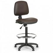 Krzesło robocze Milano Biedrax Z9785H z pierścieniem nośnym i stopkami poślizgowymi