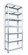 Regał metalowy Biedrax 35 x 60 x 240 cm - 7 półek białych x 175kg, ocynkowany