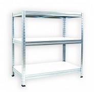 Regał metalowy Biedrax 35 x 75 x 90 cm - 3 półki białe x 175kg, ocynkowany