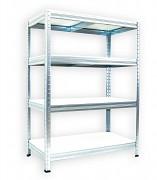 Regał metalowy Biedrax 35 x 90 x 90 cm - 4 półki białe x 175kg, ocynkowany