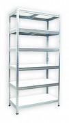 Regał metalowy Biedrax 50 x 75 x 180 cm - 6 półek białych x 175 kg, ocynkowany