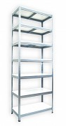 Regał metalowy Biedrax 50 x 90 x 240 cm - 7 półek białych x 175 kg, ocynkowany