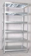 Regał metalowy Biedrax 35 x 90 x 210 cm - 6 półek metalowych x 175 kg, ocynkowany