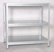 Regał metalowy Biedrax 45 x 90 x 120 cm - 3 półki metalowe x 175 kg, ocynkowany