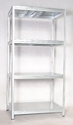 Regał metalowy Biedrax 45 x 90 x 180 cm - 4 półki metalowe x 175 kg, ocynkowany
