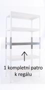 Kompletna półka do regału - regał metalowy, 60 x 90 cm - cynk, nośność półki 175 kg