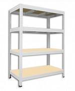 Regał metalowy Biedrax 35 x 75 x 120 cm - 4 półki x 275 kg, biały