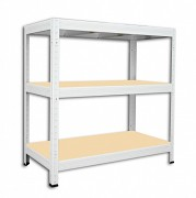 Regał metalowy Biedrax 35 x 90 x 90 cm - 3 półki x 275 kg, biały