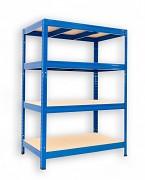 Regał metalowy Biedrax 35 x 75 x 120 cm - 4 półki x 275 kg, niebieski