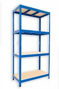 Regał metalowy Biedrax 35 x 75 x 180 cm - 4 półki x 275 kg, niebieski