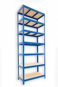 Regał metalowy Biedrax 35 x 75 x 210 cm - 7 półek x 275 kg, niebieski