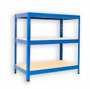 Regał metalowy Biedrax 50 x 90 x 90 cm - 3 półki x 275 kg, niebieski