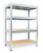 Regał metalowy Biedrax 35 x 90 x 90 cm - 4 półki x 275 kg, ocynkowany
