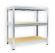 Regał metalowy Biedrax 45 x 90 x 90 cm - 3 półki x 275 kg, ocynkowany