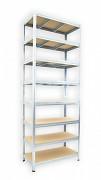 Regał metalowy Biedrax 50 x 90 x 270 cm - 8 półek x 275 kg, ocynkowany