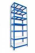 Regał metalowy Biedrax 50 x 90 x 270 cm - 7 półek białych x 275 kg, niebieski