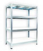 Regał metalowy Biedrax 35 x 75 x 90 cm - 4 półki białe x 275 kg, ocynkowany