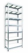 Regał metalowy Biedrax 35 x 75 x 210 cm - 7 półek białych x 275 kg, ocynkowany