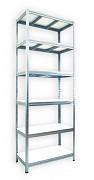 Regał metalowy Biedrax 35 x 75 x 240 cm - 6 półek białych x 275 kg, ocynkowany