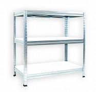 Regał metalowy Biedrax 35 x 90 x 120 cm - 3 półki białe x 275 kg, ocynkowany