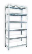 Regał metalowy Biedrax 35 x 90 x 180 cm - 6 półek białych x 275 kg, ocynkowany