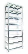 Regał metalowy Biedrax 45 x 90 x 240 cm - 8 półek białych x 275 kg, ocynkowany
