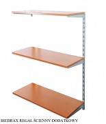 Regał ścienny wiszący dodatkowy 25 x 40 x 100 cm, 3 półki - kolor srebrny, półka czereśnia