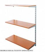 Regał ścienny wiszący dodatkowy 30 x 40 x 100 cm, 3 półki - kolor srebrny, półka czereśnia