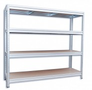Regał metalowy Biedrax 60 x 240 x 180 cm, 4 półki - ocynk, nośność półki 200 kg