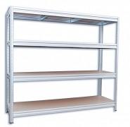 Regał metalowy Biedrax 60 x 200 x 180 cm, 4 półki - ocynk, nośność półki 200 kg