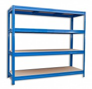Regał metalowy Biedrax 60 x 200 x 180 cm, 4 półki - niebieski, nośność półki 200 kg