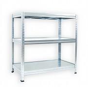Regał metalowy Biedrax 50 x 90 x 90 cm - 3 półki metalowe x 120 kg, ocynkowany