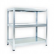 Regał metalowy Biedrax 35 x 60 x 120 cm - 3 półki metalowe x 120 kg, ocynkowany