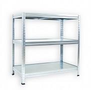Regał metalowy Biedrax 45 x 75 x 120 cm - 3 półki metalowe x 120 kg, ocynkowany