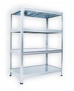 Regał metalowy Biedrax 35 x 120 x 120 cm - 4 półki metalowe x 120 kg, ocynkowany