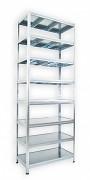 Regał metalowy Biedrax 60 x 90 x 240 cm - 8 półek metalowych x 120 kg, ocynkowany