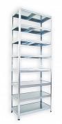 Regał metalowy Biedrax 60 x 60 x 270 cm - 8 półek metalowych x 120 kg, ocynkowany