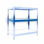 Kompletna półka do regału - regał metalowy, 35 x 90 cm - niebieski, nośność półki 120 kg
