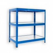 Regał metalowy Biedrax 45 x 90 x 90 cm - 3 półki metalowe x 120 kg, niebieski
