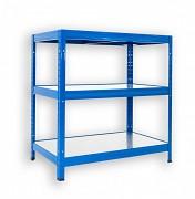 Regał metalowy Biedrax 35 x 75 x 120 cm - 3 półki metalowe x 120 kg, niebieski