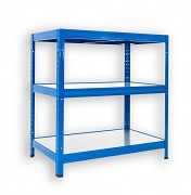 Regał metalowy Biedrax 50 x 60 x 120 cm - 3 półki metalowe x 120 kg, niebieski