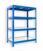 Regał metalowy Biedrax 45 x 90 x 120 cm - 4 półki metalowe x 120 kg, niebieski