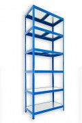 Regał metalowy Biedrax 35 x 60 x 240 cm - 6 półek metalowych x 120 kg, niebieski