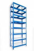 Regał metalowy Biedrax 45 x 60 x 270 cm - 8 półek metalowych x 120 kg, niebieski