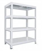 Regał metalowy Biedrax 35 x 60 x 90 cm - 4 półki metalowe x 120 kg, biały
