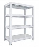 Regał metalowy Biedrax 35 x 120 x 90 cm - 4 półki metalowe x 120 kg, biały