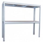 Regał metalowy Biedrax 60 x 240 x 180 cm, 2 półki - ocynk, nośność półki 200 kg