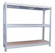 Regał metalowy Biedrax 60 x 240 x 180 cm, 3 półki - ocynk, nośność półki 200 kg